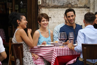 """CHASING LIFE - """"La Dolce Vita"""" - Feeling uninspired back at home, April decides to take a trip to Italy in """"La Dolce Vita,"""" the season finale of """"Chasing Life,"""" airing Monday, September 28 at 9:00 p.m. ET/PT on ABC Family. (ABC Family/Valerio Ziccanu Chessa) AISHA DEE, ITALIA RICCI, RICHARD BRANCATISANO"""