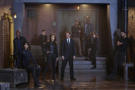 "MARVEL'S AGENTS OF S.H.I.E.L.D. - ABC's ""Marvel's Agents of S.H.I.E.L.D."" stars B.J. Britt as Antoine Triplett, Chloe Bennet as Skye, Iain De Caestecker as Agent Leo Fitz, Ming-Na Wen as Agent Melinda May, Clark Gregg as Agent Phil Coulson, Nick Blood as Lance Hunter, Henry Simmons as Alphonso 'Mac' Mackenzie, Elizabeth Henstridge as Agent Jemma Simmons and Brett Dalton as Grant Ward. (ABC/Florian Schneider)"