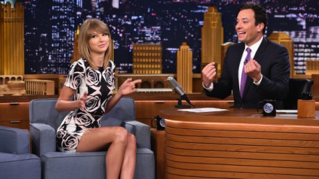 "NEW YORK, NY - AUGUST 13:  Taylor Swift visits ""The Tonight Show Starring Jimmy Fallon"" at Rockefeller Center on August 13, 2014 in New York City.  (Photo by Theo Wargo/NBC/Getty Images for ""The Tonight Show Starring Jimmy Fallon"")"