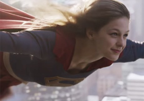 supergirl-in flight