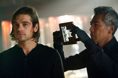 "THE MAGICIANS -- ""The Source of Magic"" Episode 102 -- Pictured: (l-r) Jason Ralph as Quentin, Hiro Kanagawa as Professor March -- (Photo by: Carole Segal/Syfy)"