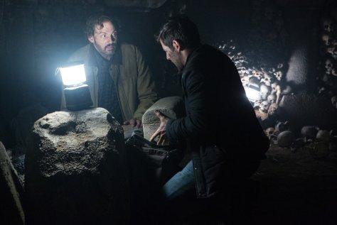 "GRIMM -- ""Into The Schwarzwald"" Episode 512 -- Pictured: (l-r) Silas Weir Mitchell as Monroe, David Giuntoli as Nick Burkhardt -- (Photo by: Scott Green/NBC)"