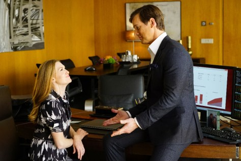 """THE CATCH - """"Pilot"""" - Alice Vaughan (Mireille Enos) is LA's top private investigator - and the one woman you don't want to mess with. But when her fiancé (Peter Krause) cons her out of millions and disappears, Alice goes on a private mission for payback. No matter where it leads or the secrets she must keep along the way, Alice will stop at nothing to catch her man. From the producers of """"Scandal,"""" """"Greys Anatomy"""" and """"How to Get Away with Murder,"""" """"The Catch"""" is a one-hour drama starring Mireille Enos, Peter Krause, Alimi Ballard, Jay Hayden, Jacky Ido, Rose Rollins, Elvy Yost and Sonya Walger. It is executive-produced by Shonda Rhimes, Betsy Beers, Allan Heinberg and Julie Anne Robinson. """"The Catch"""" premieres Thursday, March 24, 2016 at 10pm ET/PT on the ABC Television Network. (ABC/Richard Cartwright) MIREILLE ENOS, PETER KRAUSE"""