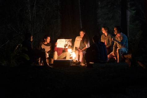 """DEAD OF SUMMER - """"Patience"""" - Set in the late 1980s, school is out for the summer and a sun-drenched season of firsts beckons the counselors at Camp Stillwater, a seemingly idyllic Midwestern summer camp, including first loves, first kisses—and first kills. Stillwater's dark, ancient mythology awakens, and what was supposed to be a summer of fun soon turns into one of unforgettable scares and evil at every turn. (Freeform/Katie Yu) MARK INDELICATO, PAULINA SINGER, ELIZABETH LAIL, RONEN RUBINSTEIN"""