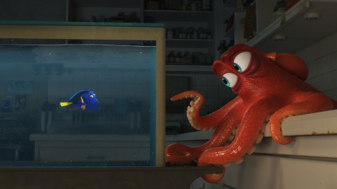 """DO I KNOW YOU? -- In Disney?Pixar's """"Finding Dory,"""" everyone's favorite forgetful blue tang, Dory (voice of Ellen DeGeneres), encounters an array of new?and old?acquaintances, including a cantankerous octopus named Hank (voice of Ed O'Neill). Directed by Andrew Stanton (?Finding Nemo,? ?WALL?E?) and produced by Lindsey Collins (co-producer ?WALL?E?), ?Finding Dory? swims into theaters June 17, 2016."""