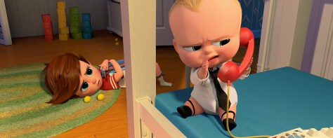 sq700 s16 f209: (left-right) Tim (voiced by Miles Bakshi) discovers Boss Baby's (voiced by Alec Baldwin) surprising secret in DreamWorks Animation's THE BOSS BABY. Photo Credit: DreamWorks Animation.