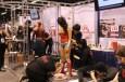 Professional makeup school applies superhero paint