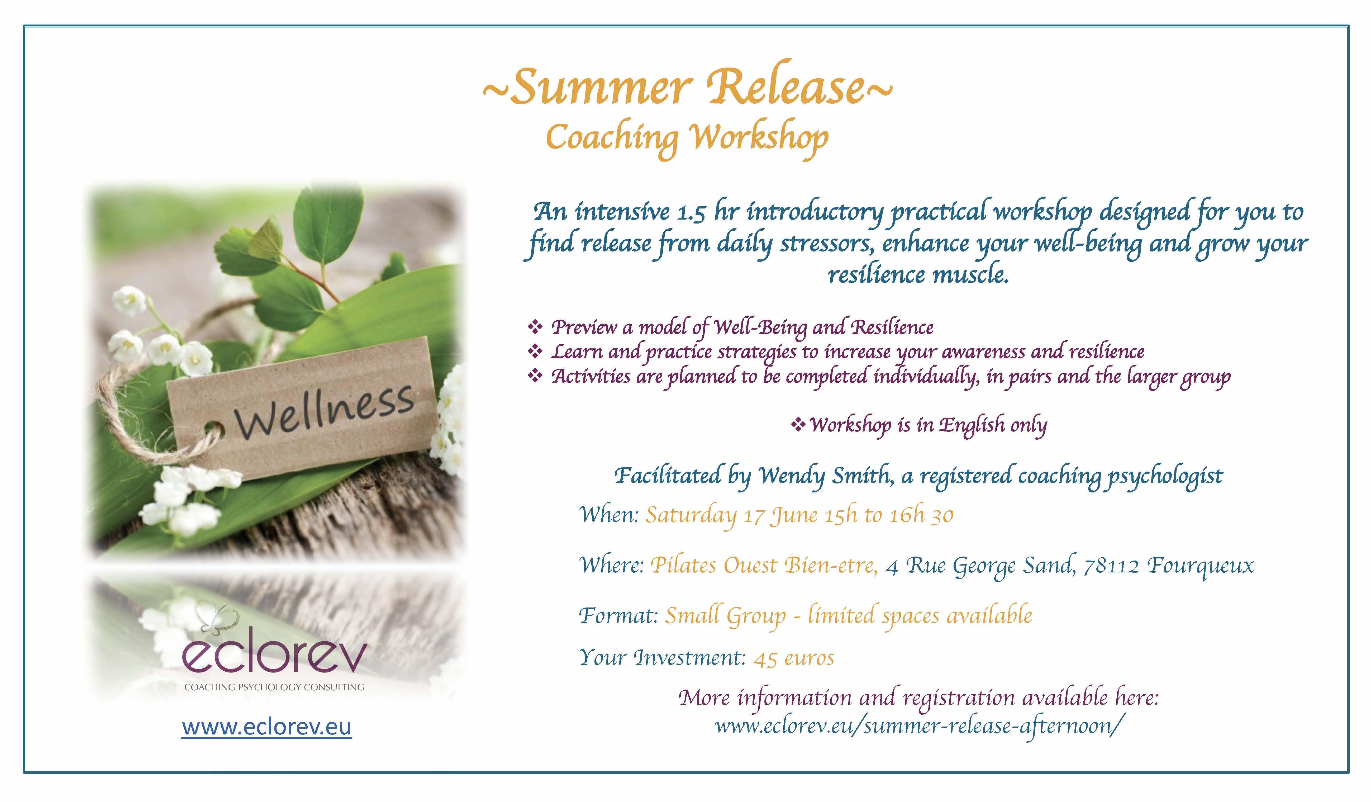 Summer Release Eclorev Workshop