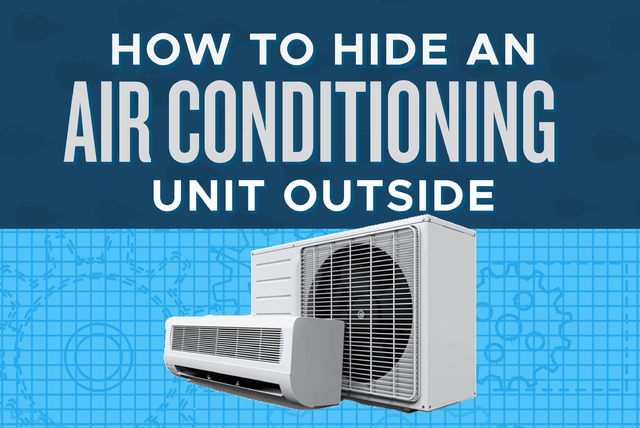 how to hide an air conditioner unit outside