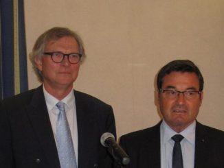 Fontenat et Bailly, le nouveau président de la CCI et son prédécesseur ©CCI de l'Ain