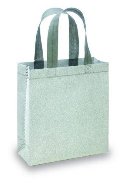 Shopper tnt glitterato argento