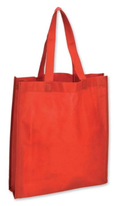 shopper rosso soffietto