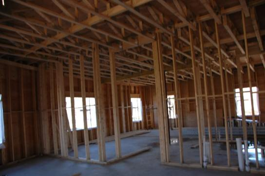 Commercial Office Building interior framing