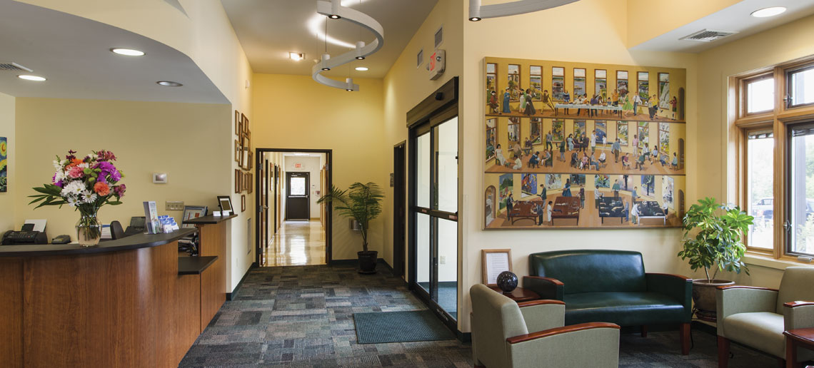 Commercial Office Building Reception and Waiting Areas