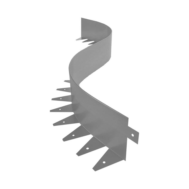 Металлический бордюр для дорожек ЭкоДеко Флекс 1мм / 1200х100х70 // Цинк
