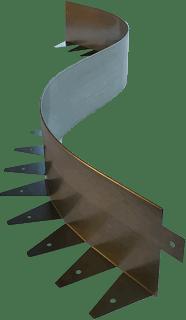 Металлические бордюры Экодеко - для сада, дорожек, клумб, газона.