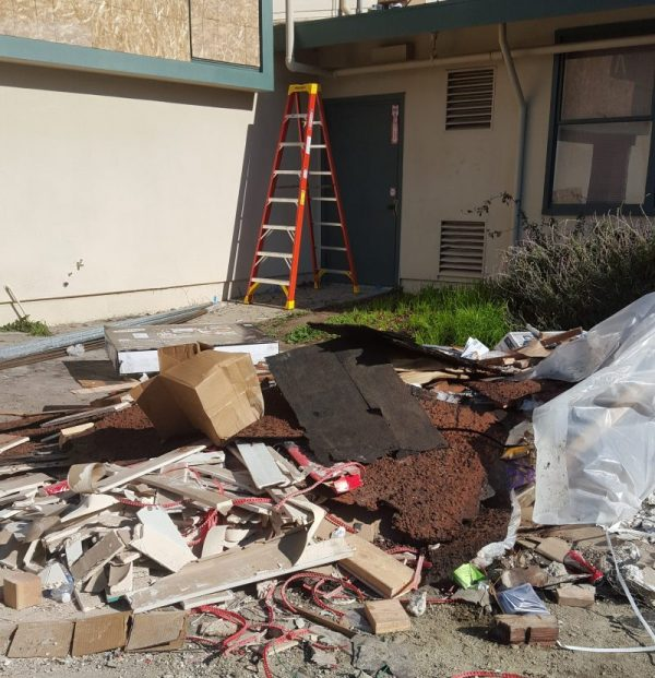 Construction debris removal and clean up