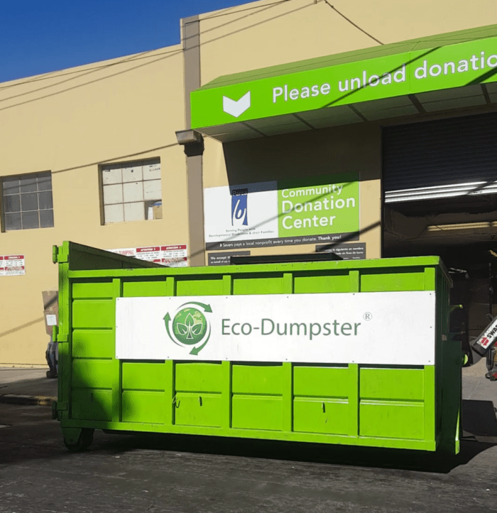 We donate to furniture to local charities