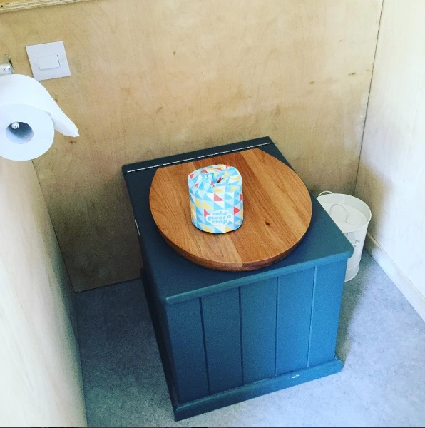Eco-Loo Cottage in Stiffkey Blue inside a Tiny Homes Holidays cottage.