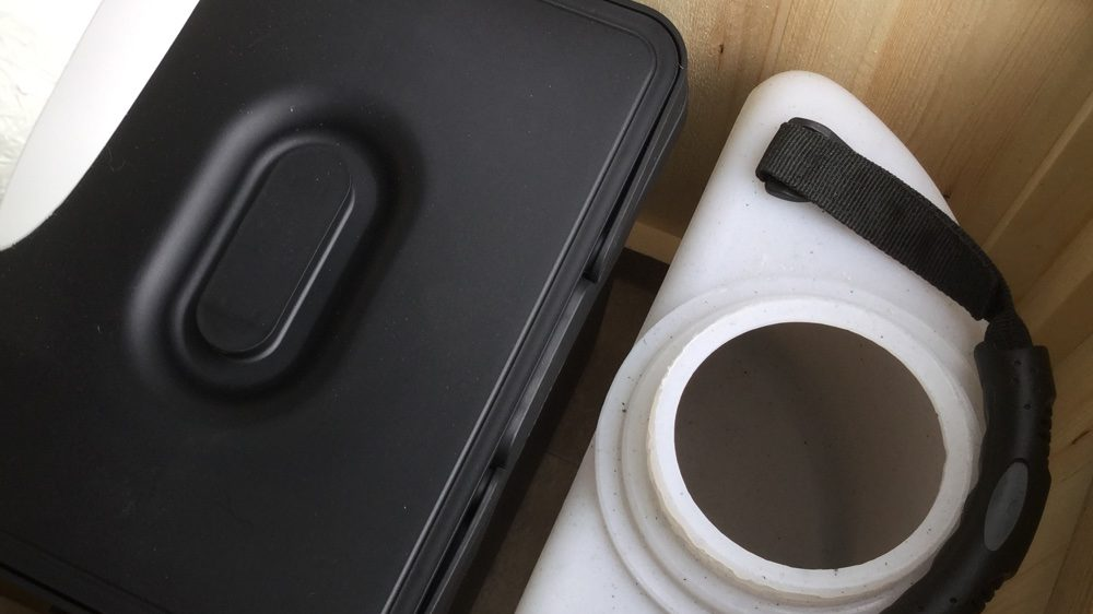 How to prepare your compost toilet for use – cover and soak material