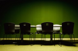 Empty meeting space
