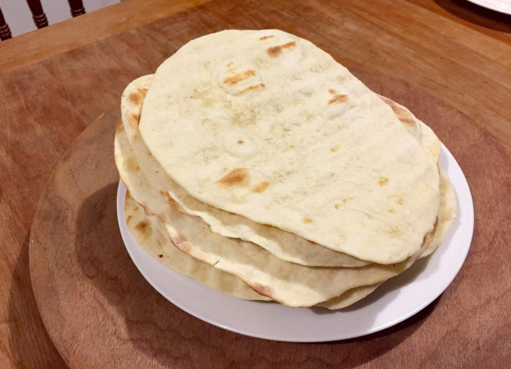 Stack of tortilla wraps