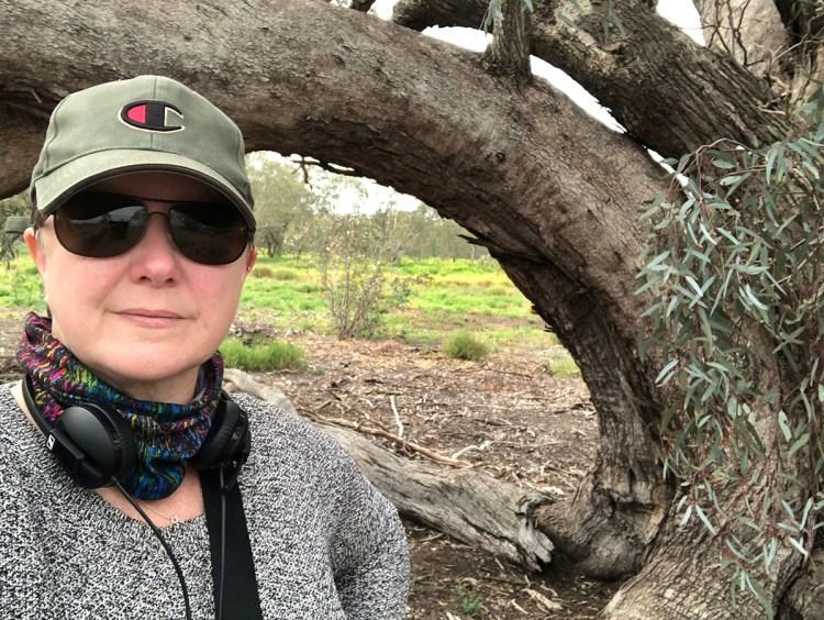 Kim V. Goldsmith on site in the Macquarie Marshes