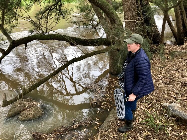 Kim V Goldmsmith sound recording on the Galari/Lachlan River