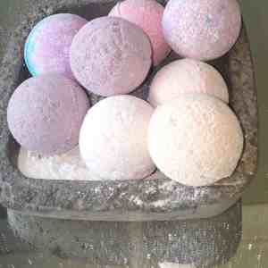stone bowl bath bombs