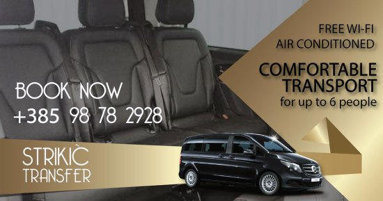 Luxurious and Comfortable Transfer from Split Airport to Split, and from Split to Split Airport with a professional and safe driver and a luxurious, comfortable and safe car Strikic transfer specializes in luxury and comfortable passenger transport on the relation airport Split - Split Croatia. Book your transfer with a professional and safe driver and a luxurious, comfortable and safe car. A luxurious and comfortable transfer is performed by Mercedes V class. The car is equipped with free internet wi-fi access, air conditioning and full equipment. Luxurious and Comfortable Transfer from Split Airport to Split, with a professional and safe, driver and a luxurious, comfortable and safe car, Transfer from Split Airport to Dubrovnik, Zadar, Makarska, Sibenik, Plitvice Lakes, Medjugorje, Omis or to any place in Croatia, Luxury Excursions carriage on relations Split-Dubrovnik, Split-Zadar, Split-Zagreb, Split-Plitvice Lakes, and Excursions to all destinations in Croatia - Strikić transfer Split Transfer from Split Airport to Split, Dubrovnik, Zadar, Makarska, Sibenik, Plitvice Lakes, Medjugorje, Omis or any place in Croatia, or to Airport Split from any other place in Croatia Luxurious and Comfortable Transfer from Split Airport to Split, with a professional and safe, driver and a luxurious, comfortable and safe car, Transfer from Split Airport to Dubrovnik, Zadar, Makarska, Sibenik, Plitvice Lakes, Medjugorje, Omis or to any place in Croatia, Luxury Excursions carriage on relations Split-Dubrovnik, Split-Zadar, Split-Zagreb, Split-Plitvice Lakes, and Excursions to all destinations in Croatia - Strikić transfer SplitWhether you want a VIP convenient comfortable transport from airport Split to Split, Dubrovnik, Zadar, Makarska, Plitvice Lakes, Medjugorje, Omis, Sibenik or any other destination in Croatia, Sikic transfer is an ideal solution. Safe and reliable scroll to the desired destination. Book at the time for departure from the Split airport or return to the Split ai