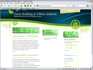 UMass Green Building Website