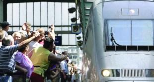 TGV arrives to Stuttgart