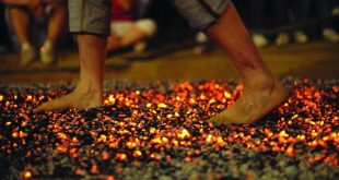 Firewalking - Walking on fire in order to evolve