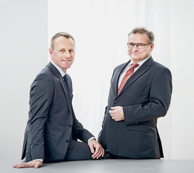 Klaus Tischhauser (Co-Founder & CEO), Kaspar Müller (Chairman of the Board of Directors) | ©Jürg Waldmeier