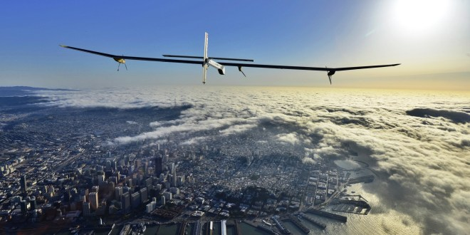 Solar Impulse over San Fransisco