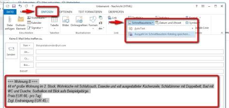E Mail Angebote Mit Outlook Schnellbausteinen Ecoach