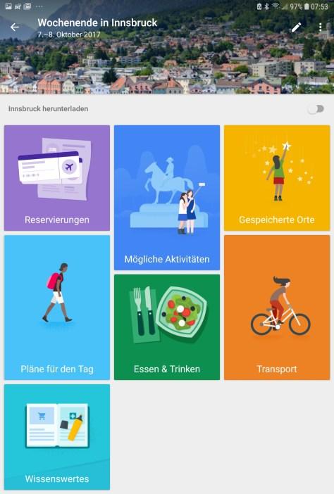 Reisebegleiter Smartphone - Google Reiseziele App