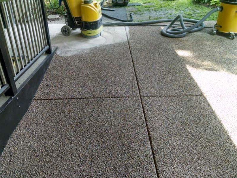 pea gravel patio eco advantage painting