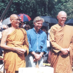 Andrew with Buddhist monks