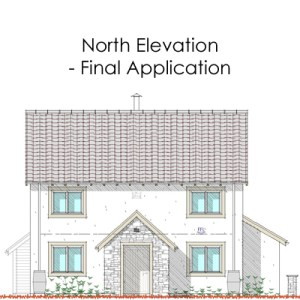 north elevation - first application