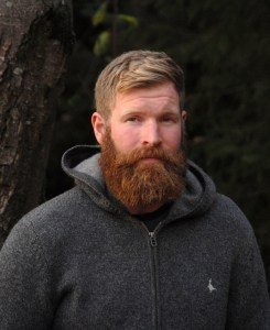 """""""Kiwi Sean"""" Hoskins is known to many in the area as a musician but he is also Hollywood's forester - he talked about he works to 'mark' and thin conifer plantations to transform plantations into 'Close to Nature' continuous cover forests."""