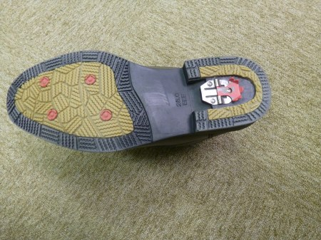 Snow shoes with flip-up teeth. Photo and permission Su Grierson