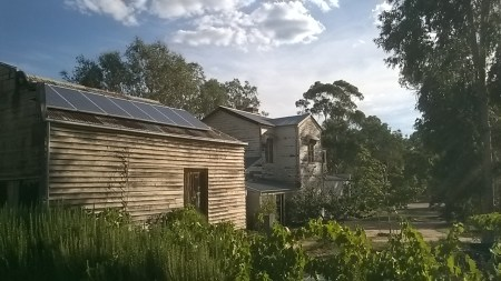 Solar panels on the outbuilding, The Avoca Project, Photo Anne Douglas