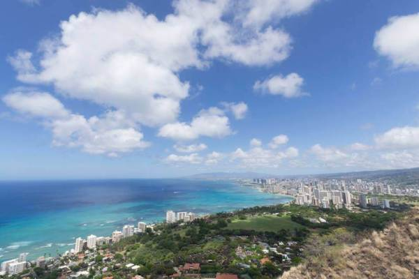 View of Waikiki from the Diamond Head Lookout