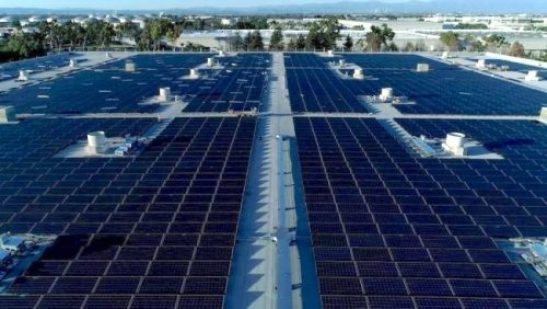 A large scale solar PV array and microgrid