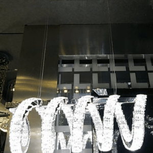 horizontal spiral crystal chandelier