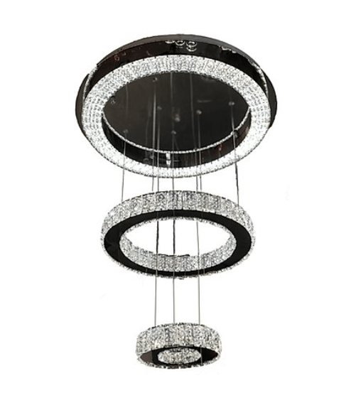 hanging rings crystal chandelier