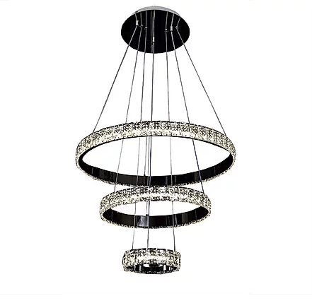 Mini 3 Tiered Crystal Chandelier