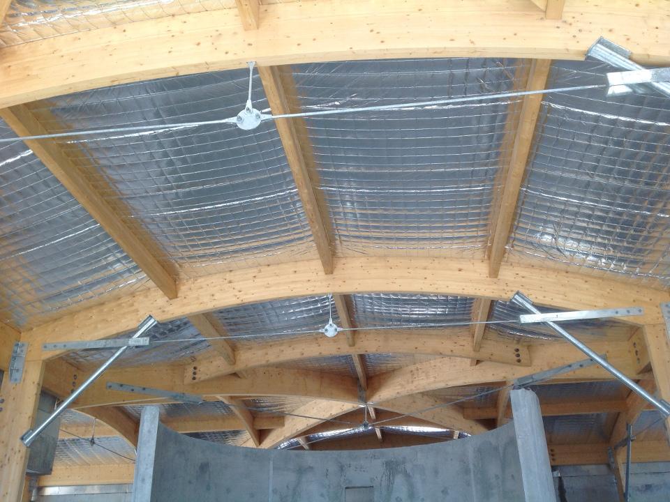 Isolation thermique en rampant sous toiture de la Structure Multi Accueil de Manosque