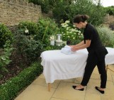 Have a private massage in Culls cottage garden